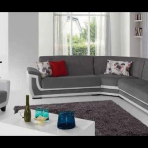 Vienna 10 modern design fabric sofa furniture, white corner chaise lounge sofa
