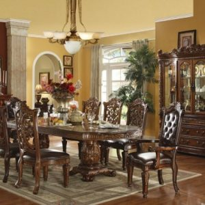 Luxury home dining table set, classical dining table and chair